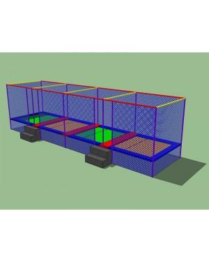 Cama Elástica Quadrada Módulo4 - 2m x 8m x 2,7m