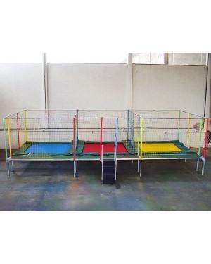 Cama Elástica Retangular Módulo3 - 7,5m x 4,2m x 2,7m